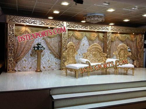 Royal gold wedding stage set latest royal gold wedding stage set junglespirit Images