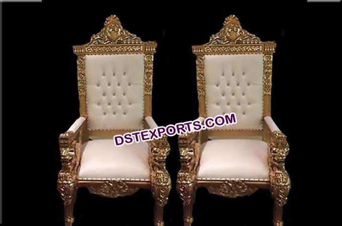 Royal look Wedding maharaja King & Queen chairs - Look Wedding Maharaja King & Queen Chairs
