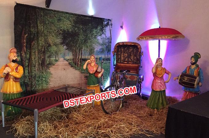 Village theme punjabi wedding stage decoration junglespirit Image collections