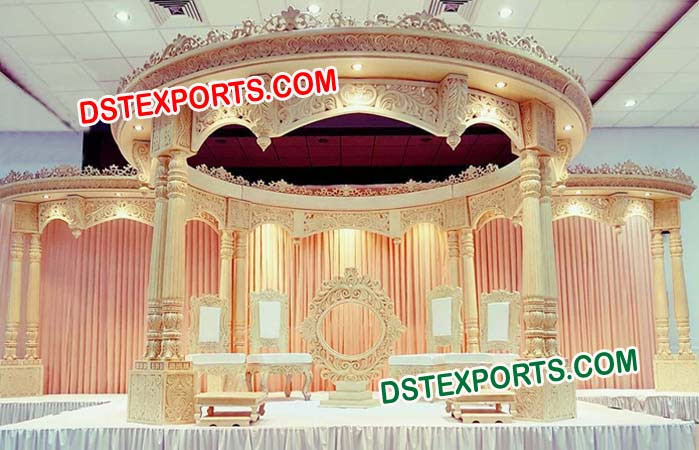 Double Pole Fiber Wedding Mandap
