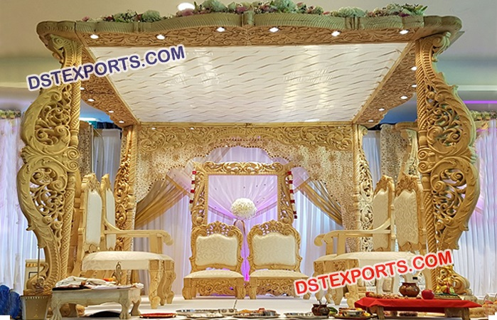New Wooden Carved Mandap