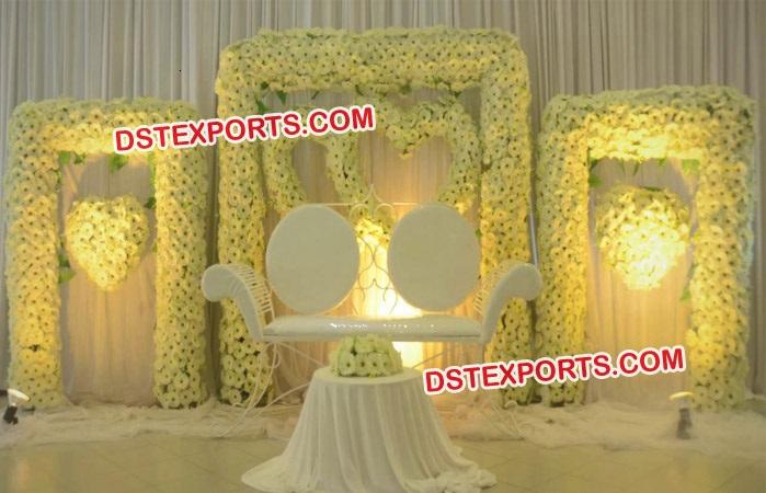 Latest Design Wedding Stage Flower Walls Frames