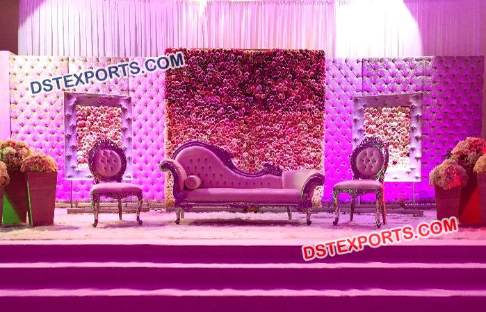 Leather Panel Wedding Stage Decoration
