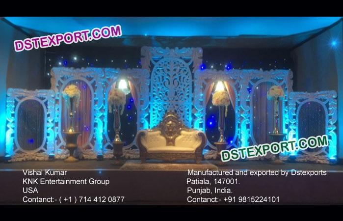 Grand Indian Asian Wedding Stage Back Frames Decor