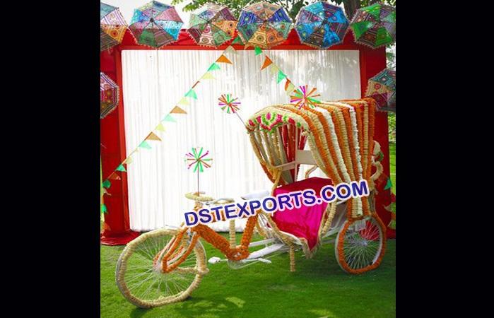 Punjabi Wedding Dulhan Entry Idea Rickshaw