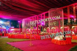 OUTDOOR WEDDING CRYSTAL DECORATIONS