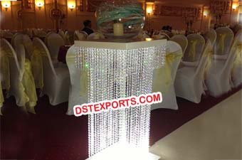 WEDDING WALKWAY CRYSTAL COLUMNS