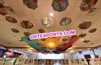 Indian wedding mandaps manufacturer wedding stages manufacturer indian wedding decoration hanging small umbrellas junglespirit Image collections